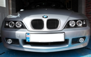Fitting Sonar Halo BMW Z3 Angel Eyes Headlight Units