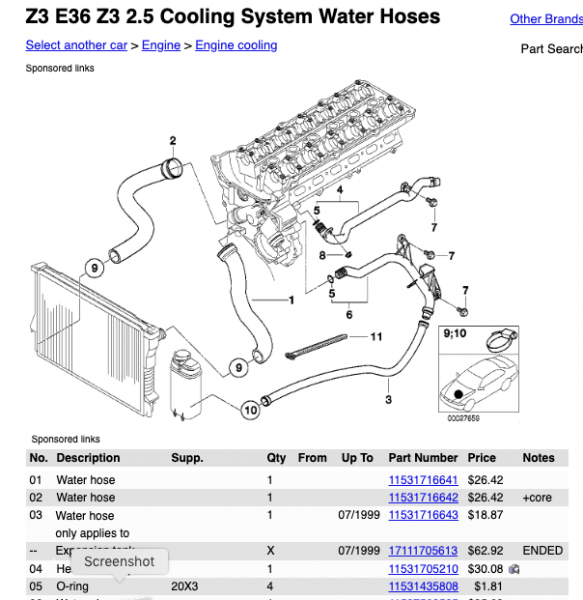 bmw z3 diagram 1999 bmw z3 2 3 m52tu cooling system diagram bmw z1 z4 z8 z3 bmw z3 belt diagram 1999 bmw z3 2 3 m52tu cooling system