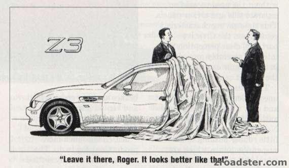 z3 coupe cartoon