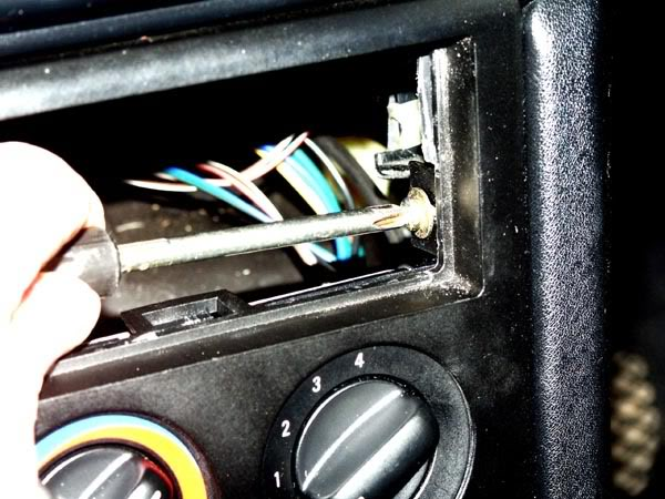 Bmw z3 replacing heater control bulbs bmw z1 z4 z8 z3 forum and after removing the radio sleeve you will see the securing screws and the plastic staple catches sciox Choice Image
